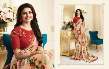 VINAY PRACHI STAR WALK VOL 27 GEORGETTE WORK BLAUSE SAREES WHOLESALE BEST RATE BY GOSIYA EXPORTS (6)