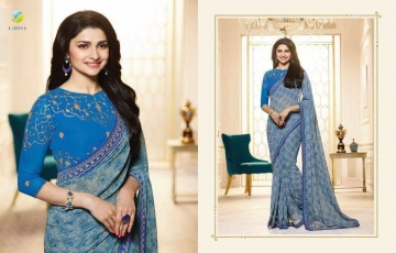 VINAY PRACHI STAR WALK VOL 27 GEORGETTE WORK BLAUSE SAREES WHOLESALE BEST RATE BY GOSIYA EXPORTS (7)