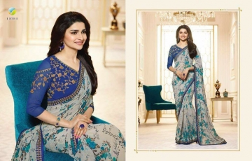 VINAY PRACHI STAR WALK VOL 27 GEORGETTE WORK BLAUSE SAREES WHOLESALE BEST RATE BY GOSIYA EXPORTS (8)