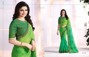Vinay starwalk blossom party wear saree collection BY GOSIYA EXPORTS (1)