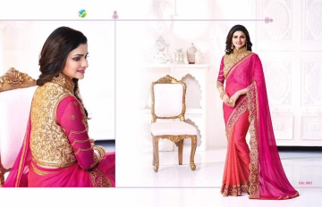 Vinay starwalk blossom party wear saree collection BY GOSIYA EXPORTS (12)