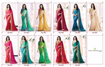 Vinay starwalk blossom party wear saree collection BY GOSIYA EXPORTS (2)