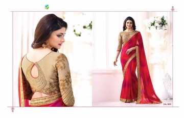 Vinay starwalk blossom party wear saree collection BY GOSIYA EXPORTS (3)