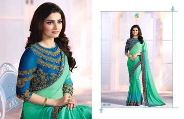 Vinay starwalk blossom party wear saree collection BY GOSIYA EXPORTS (4)