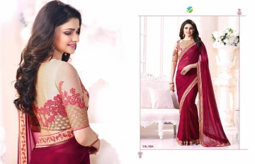 Vinay starwalk blossom party wear saree collection BY GOSIYA EXPORTS (5)