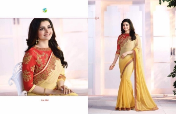 Vinay starwalk blossom party wear saree collection BY GOSIYA EXPORTS (6)