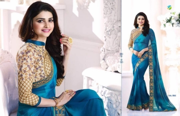 Vinay starwalk blossom party wear saree collection BY GOSIYA EXPORTS (8)