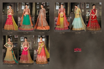 VIPUL FASHION 901-909 SERIES DESIGNER WEDDING PARTY WEAR LEHENGA (18)