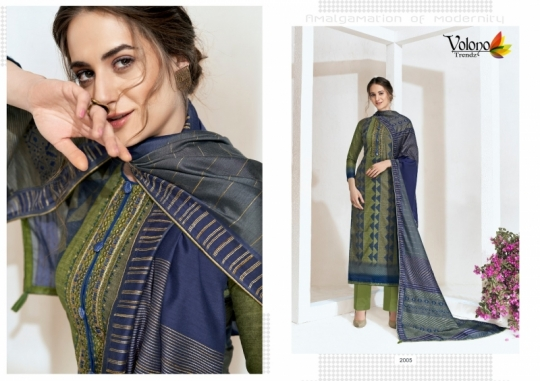 VOLONO ELAN VOL 1 CAMBRIC COTTON CASUAL SUITS SUMMER COLLECTION WHOLESALE DEALER BEST RATE BY GOSIYA EXPROTS SURAT (11)
