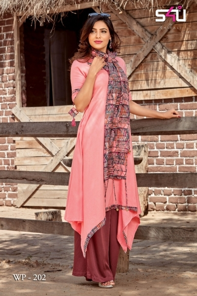 WEEKEND PASSIONS VOL 2 S4U STYLISH KURTI WITH DUPATTA AND SHRUG AT WHOLESALE DEALER BEST RATE BY GOSIYA EXPORT SURAT (1)