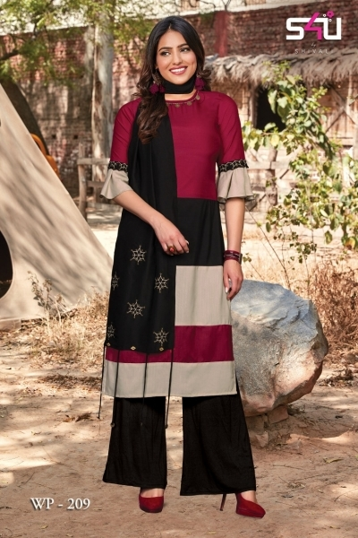WEEKEND PASSIONS VOL 2 S4U STYLISH KURTI WITH DUPATTA AND SHRUG AT WHOLESALE DEALER BEST RATE BY GOSIYA EXPORT SURAT (10)