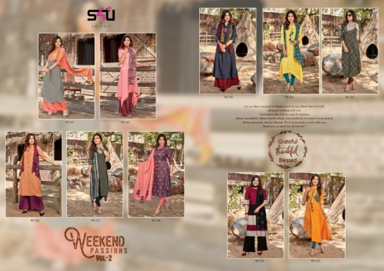 WEEKEND PASSIONS VOL 2 S4U STYLISH KURTI WITH DUPATTA AND SHRUG AT WHOLESALE DEALER BEST RATE BY GOSIYA EXPORT SURAT (11)