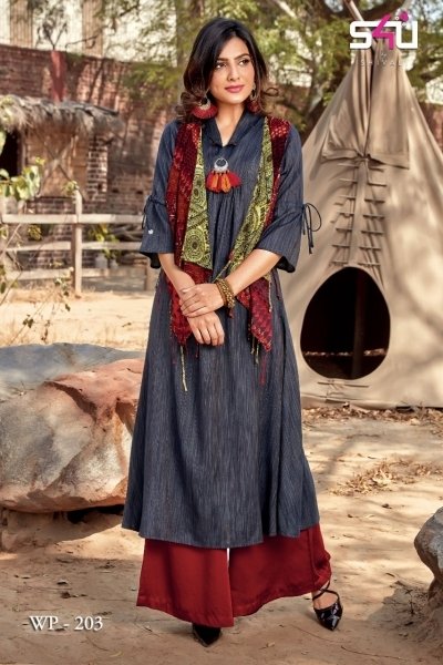 WEEKEND PASSIONS VOL 2 S4U STYLISH KURTI WITH DUPATTA AND SHRUG AT WHOLESALE DEALER BEST RATE BY GOSIYA EXPORT SURAT (3)