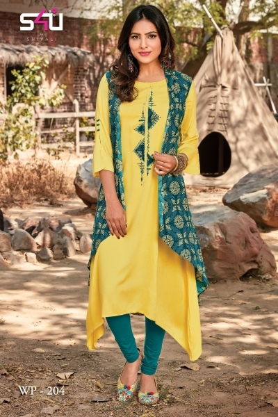 WEEKEND PASSIONS VOL 2 S4U STYLISH KURTI WITH DUPATTA AND SHRUG AT WHOLESALE DEALER BEST RATE BY GOSIYA EXPORT SURAT (4)