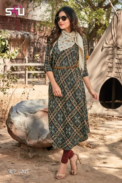 WEEKEND PASSIONS VOL 2 S4U STYLISH KURTI WITH DUPATTA AND SHRUG AT WHOLESALE DEALER BEST RATE BY GOSIYA EXPORT SURAT (6)
