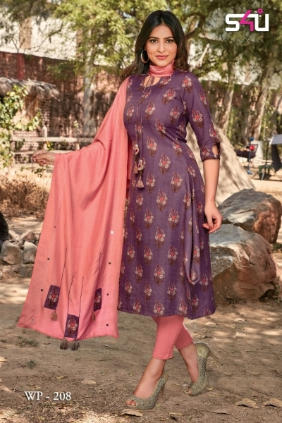 WEEKEND PASSIONS VOL 2 S4U STYLISH KURTI WITH DUPATTA AND SHRUG AT WHOLESALE DEALER BEST RATE BY GOSIYA EXPORT SURAT (8)