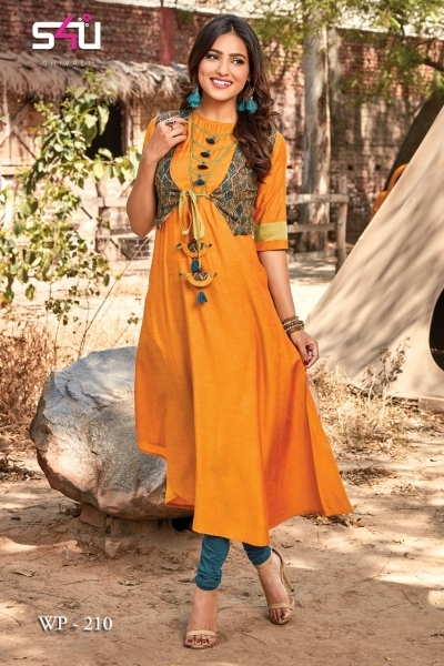 WEEKEND PASSIONS VOL 2 S4U STYLISH KURTI WITH DUPATTA AND SHRUG AT WHOLESALE DEALER BEST RATE BY GOSIYA EXPORT SURAT (9)