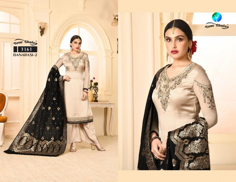 a2a014121d Gosiya Exports » YOUR CHOICE BANARASI VOL 2 SATIN GEORGETTE FABRIC ...