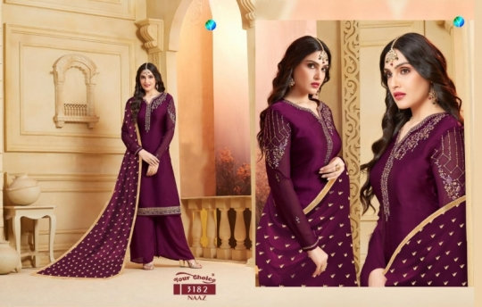 YOUR CHOICE PRESENTS NAAZ SATIN SALWAR  (4)