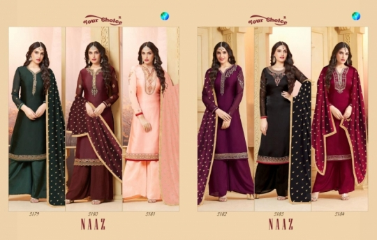 YOUR CHOICE PRESENTS NAAZ SATIN SALWAR  (5)