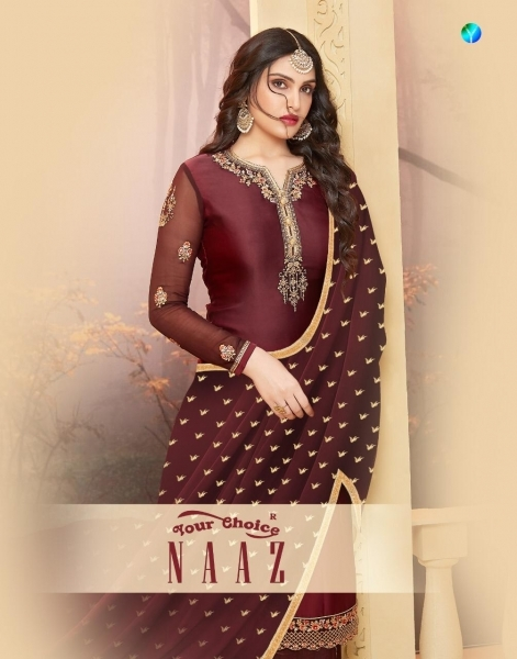 YOUR CHOICE PRESENTS NAAZ SATIN SALWAR  (8)