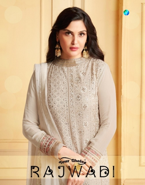 YOUR CHOICE PRESENTS RAJWADI LAKHNAVI STYLE SARARA PATTERN SUITS COLLECTION AT WHOLESALE BEST RATE BY GOSIYA EXPORTS SU (1)