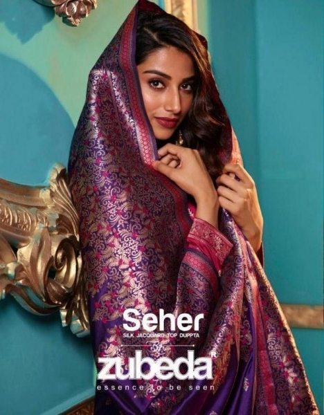 ZUBEDA PRESENTS SEHER SILK JACQURAD FABRIC WITH EMBROIDERY WORK SALWAR SUIT WHOLESALE DEALER BEST RATE BY GOSIYA EXPORTS SURAT (1)