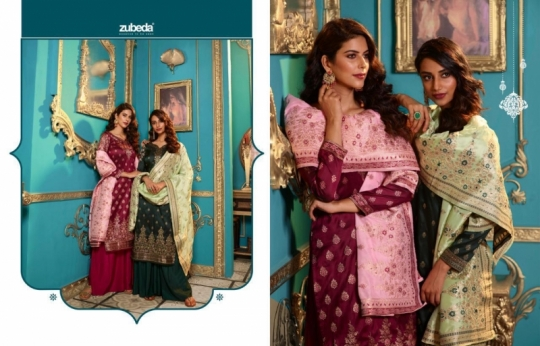 ZUBEDA PRESENTS SEHER SILK JACQURAD FABRIC WITH EMBROIDERY WORK SALWAR SUIT WHOLESALE DEALER BEST RATE BY GOSIYA EXPORTS SURAT (13)