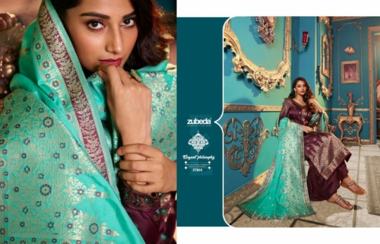 ZUBEDA PRESENTS SEHER SILK JACQURAD FABRIC WITH EMBROIDERY WORK SALWAR SUIT WHOLESALE DEALER BEST RATE BY GOSIYA EXPORTS SURAT (2)