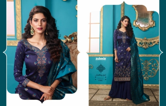 ZUBEDA PRESENTS SEHER SILK JACQURAD FABRIC WITH EMBROIDERY WORK SALWAR SUIT WHOLESALE DEALER BEST RATE BY GOSIYA EXPORTS SURAT (4)
