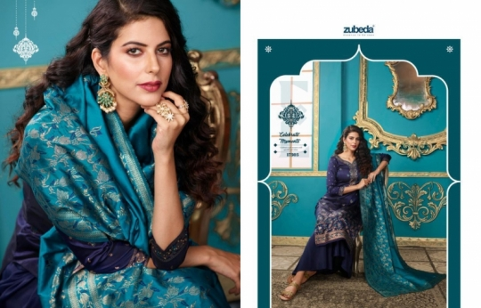 ZUBEDA PRESENTS SEHER SILK JACQURAD FABRIC WITH EMBROIDERY WORK SALWAR SUIT WHOLESALE DEALER BEST RATE BY GOSIYA EXPORTS SURAT (6)