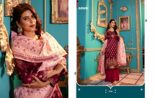 ZUBEDA PRESENTS SEHER SILK JACQURAD FABRIC WITH EMBROIDERY WORK SALWAR SUIT WHOLESALE DEALER BEST RATE BY GOSIYA EXPORTS SURAT (7)