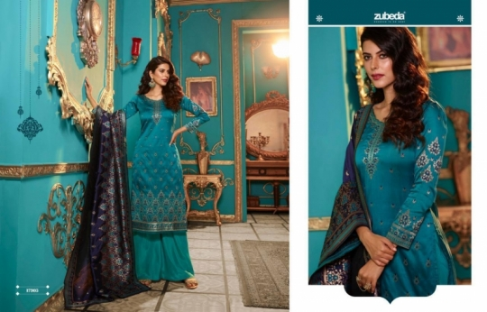 ZUBEDA PRESENTS SEHER SILK JACQURAD FABRIC WITH EMBROIDERY WORK SALWAR SUIT WHOLESALE DEALER BEST RATE BY GOSIYA EXPORTS SURAT (8)